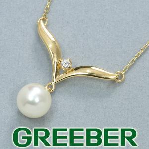 ミキモト ネックレス アコヤ真珠 7.0mm パール ダイヤ ダイヤモンド K18YG BLJ|greeber01