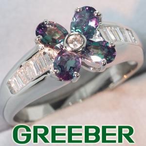 アレキサンドライト 0.69cct ダイヤ ダイヤモンド 0.20ct リング 指輪 Pt900/プラチナ ソーティング GENJ|greeber01
