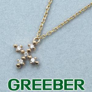 ジュピター ネックレス ダイヤ ダイヤモンド クロス K10YG BLJ/GENJ greeber01