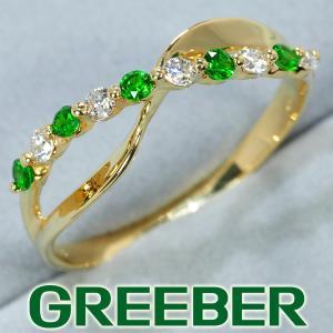 デマントイドガーネット 0.18ct ダイヤ ダイヤモンド 0.16ct リング 指輪 K18YG GENJ greeber01