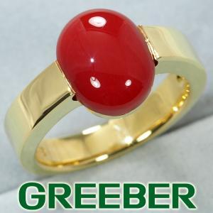赤珊瑚 サンゴ リング 指輪 K18YG GENJ|greeber01