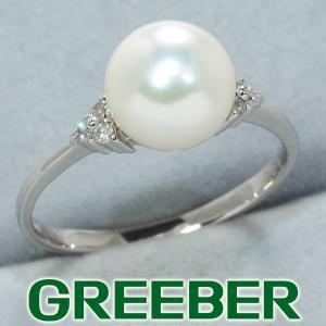 パール ダイヤ ダイヤモンド 0.06ct リング 指輪 Pt900/プラチナ GENJ 特別値下げ品|greeber01