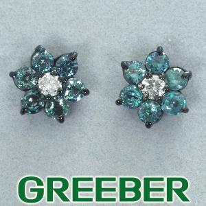 アレキサンドライト 0.32ct/0.30ct ダイヤ ダイヤモンド ブラックコーティング ピアス K18WG/Pt900/プラチナ GENJ|greeber01