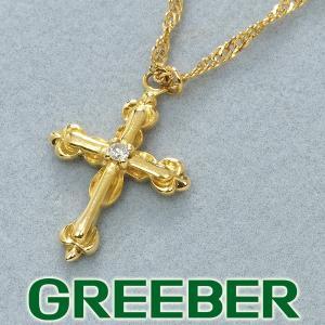 アーカー ネックレス ダイヤ ダイヤモンド ミュゼ クロス K18YG BLJ greeber01