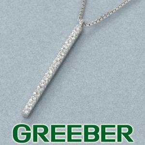ポンテヴェキオ ネックレス ダイヤ ダイヤモンド 0.09ct バー K18WG BLJ greeber01