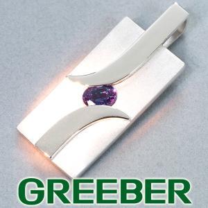 上質。アレキサンドライト 0.426ct ペンダントトップ K10WG GENJ|greeber01