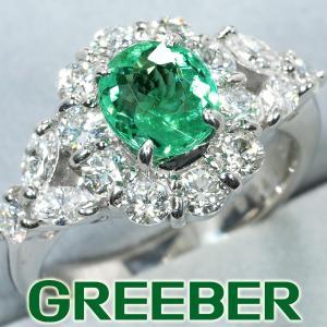 パライバトルマリン 1.133ct ダイヤ ダイヤモンド 1.13ct リング 指輪 Pt900/プラチナ 鑑別書 GENJ|greeber01