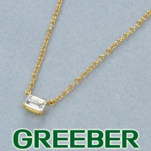 アーカー ネックレス ダイヤ ダイヤモンド 0.14ct ソルティア バケットカット K18YG BLJ|greeber01