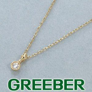 アガット ネックレス ダイヤ ダイヤモンド 0.03ct K10YG BLJ/GENJ|greeber01