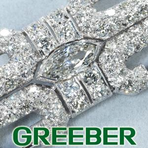 アンティーク ダイヤ ダイヤモンド ブローチ 鑑別書/保証書 GENJ|greeber01