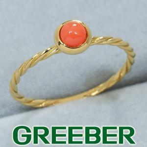 珊瑚 サンゴ リング 指輪 K18YG GENJ|greeber01