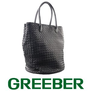 ボッテガヴェネタ イントレチャート トートバッグ ショルダーバッグ レザー ブラック BSK|greeber01