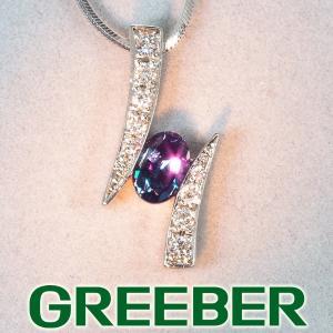 ジェムケリー ネックレス アレキサンドライト 0.383ct ダイヤ ダイヤモンド 0.10ct K18WG/Pt900/プラチナ BLJ/GENJ|greeber01