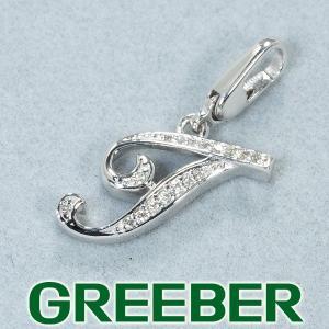 ノンブル ペンダントトップ ダイヤ ダイヤモンド 0.04ct アルファ イニシャルT K18WG BLJ/GENJ|greeber01