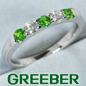 デマントイドガーネット 0.31ct ダイヤ ダイヤモンド 0.20ct リング 指輪 Pt900/プラチナ ソーティング GENJ greeber01