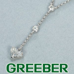 ダイヤ ダイヤモンド 0.27ct ミステリーハート ネックレス K18WG GENJ|greeber01
