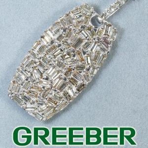 バケット&テーパーカット ブラウンダイヤ ダイヤモンド 0.80ct パヴェ ネックレス K18WG GENJ|greeber01