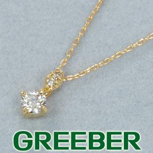 一粒 ダイヤ ダイヤモンド 0.10ct シンプル ネックレス K18YG GENJ|greeber01