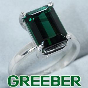 グリーントルマリン リング 指輪 K18WG GENJ|greeber01