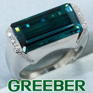 トルマリン 上質ダイヤ ダイヤモンド 0.11ct リング 指輪 Pt900/プラチナ GENJ|greeber01
