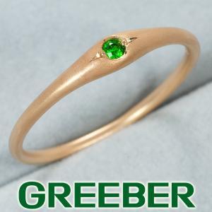 グリーンガーネット 0.03ct リング 指輪 K18PG GENJ greeber01