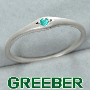 パライバトルマリン 0.03ct リング 指輪 K18WG GENJ|greeber01