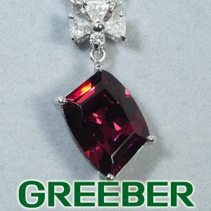 ロードライトガーネット 4.51ct ダイヤ ダイヤモンド 0.24ct ネックレス Pt900/Pt850/プラチナ GENJ greeber01