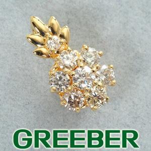 ダイヤ ダイヤモンド 0.31ct ペンダントトップ K18YG GENJ|greeber01
