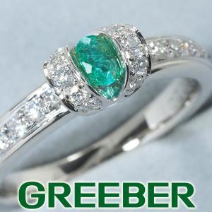 パライバトルマリン 0.15ct ダイヤ ダイヤモンド 0.23ct リング 指輪 Pt900/プラチナ ソーティング GENJ 特別値下げ品|greeber01
