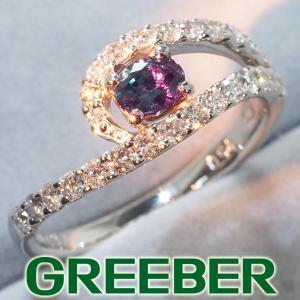 アレキサンドライト 0.32ct ダイヤ ダイヤモンド 0.54ct リング 指輪 Pt900/プラチナ ソーティング GENJ|greeber01