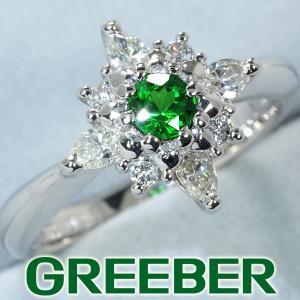 デマントイドガーネット 0.23ct ダイヤ ダイヤモンド 0.36ct リング 指輪 Pt900/プラチナ GENJ greeber01