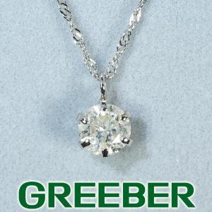 ダイヤ ダイヤモンド 0.40ct ネックレス Pt900/Pt850/プラチナ 保証書/ソーティング GENJ|greeber01