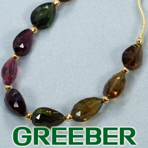 トルマリン マルチカラー ネックレス K18YG GENJ|greeber01