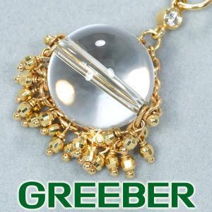 水晶 クォーツ ダイヤ ダイヤモンド ペンダントトップ K14YG GENJ|greeber01
