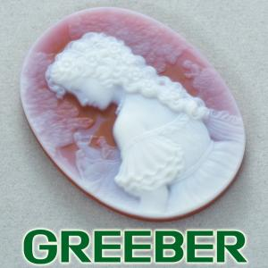 メノウ カメオ ルース 裸石 GENJ|greeber01
