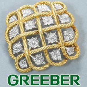 ジャンマリアブチェラッティ ブローチ K18YG/WG BLJ/GENJ|greeber01