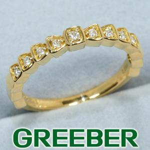 4℃ リング 指輪 ダイヤ ダイヤモンド 0.094ct ハーフエタニティ K18YG BLJ/GENJ|greeber01