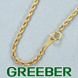 スクリュー ツイスト チェーン ネックレス 55cm K18YG GENJ|greeber01