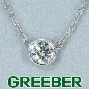 ティファニー ネックレス ダイヤ ダイヤモンド 0.30ct程 バイザヤード Pt950/プラチナ BLJ|greeber01