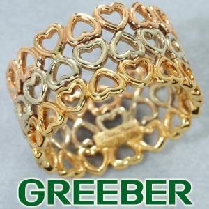 ティファニー リング 指輪 クラウンオブハート スリーカラー 9号 K18YG/WG/PG BLJ|greeber01