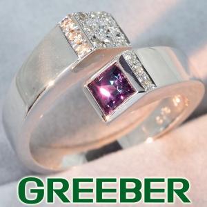 ジェムケリー リング 指輪 アレキサンドライト 0.341ct ダイヤ ダイヤモンド 0.10ct 10号 K18WG 箱 BLJ/GENJ|greeber01
