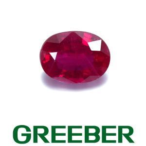 ビルマ産 上質ルビー 1.671ct ルース 裸石 鑑別書/分析報告書 GENJ|greeber01