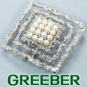 TASAKI タサキ ブローチ兼ペンダントトップ アコヤ真珠 パール シルバー BLJ/GENJ|greeber01