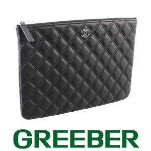 シャネル マトラッセ クラッチバッグ ラムスキン レザー ブラック 20番台 BSK|greeber01