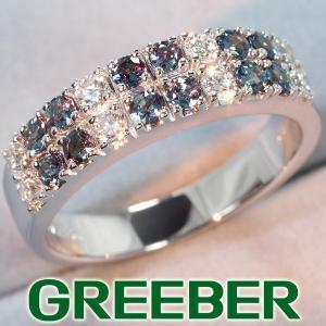 アレキサンドライト 0.67ct ダイヤ ダイヤモンド 0.42ct リング 指輪 K18WG GENJ|greeber01