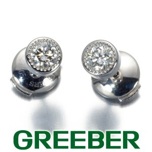 デビアス ピアス ダイヤ ダイヤモンド 0.12ct/0.12ct程 一粒 K18WG BLJ/GENJ|greeber01
