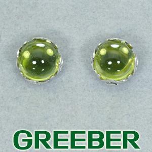 ペリドット シンプル ピアス K14WG GENJ|greeber01