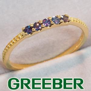 アレキサンドライト 0.20ct リング 指輪 K18YG GENJ|greeber01