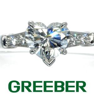 ハリーウィンストン リング 指輪 ダイヤ ダイヤモンド 0.76ct トリスト ハートシェイプカット...