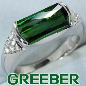 TASAKI タサキ リング 指輪 グリーントルマリン 3.32ct ダイヤ ダイヤモンド 0.08ct 10.5号 Pt900/プラチナ BLJ/GENJ|greeber01